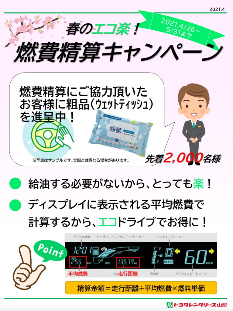 エコ楽燃費精算キャンペーン